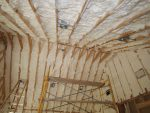 insulating cathedral ceiling Diy Icynene Spray Foam Insulation Best How to Insulate Cathedral
